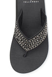 Yellow Box | Women's NEVE Rhinestone Flip Flops