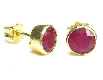 Betty Carre Ruby Quartz Studs VB93Ruby