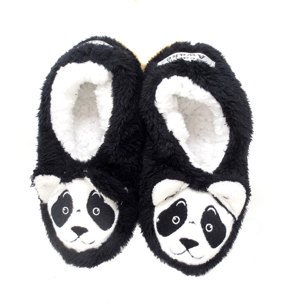 Panda Women's Footsie Slippers by Faceplant Dreams