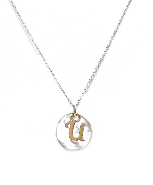 Kevin N Anna U Initial Necklace