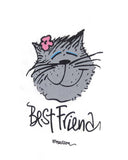 "Cat ""Best Friend"" Ladies Whimsical Nightshirt"