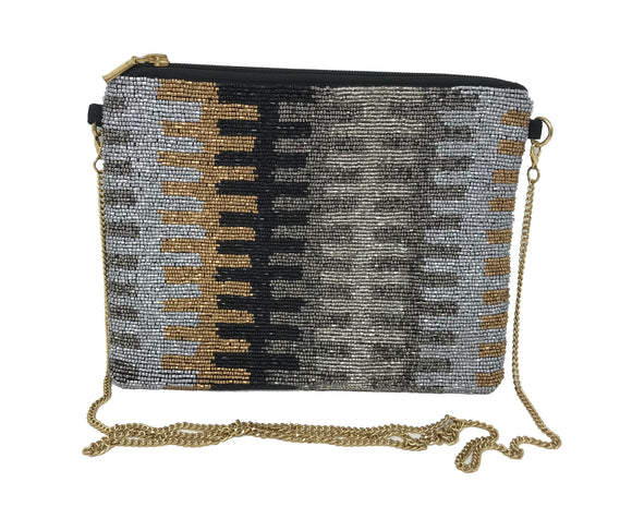 Kay Lee New York Beaded Evening Handbag / Crossbody with Chain Strap...More Styles Inside