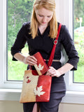 ESPE Canada Maple Leaf Vegan Leather Women's Messenger Handbag