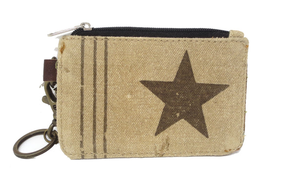 Chloe & Lex Star Canvas ID, Key Chain, and Card Wallet
