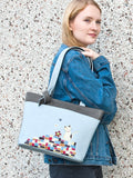 ESPE Friend Vegan Leather Tote with Whimsical Cat Motif
