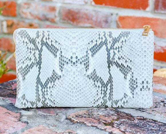Caroline Hill Liz Crossbody Bag | Gorgeous Snake Print