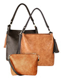 ESPE Icon 2-n-1 Vegan Leather Women's Handbag with Contrasting Panels