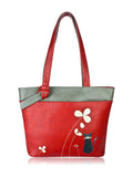 ESPE Sparkle Vegan Leather Tote with Whimsical Cat Motif