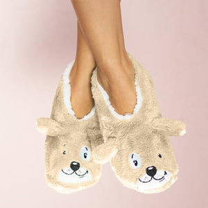 Dog Tired Women's Slipper Footsies by Faceplant Dreams