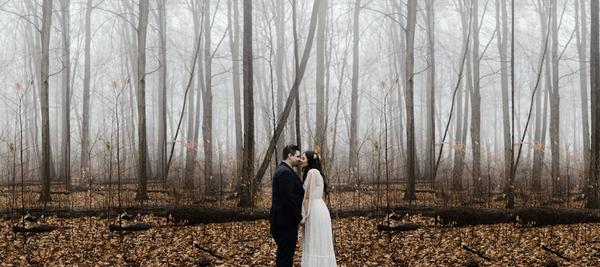 Skyla and Reese's Outdoor Winter Wonderland Wedding