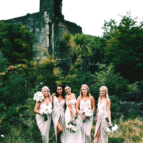 White Bridesmaid Dresses Won't Steal Your Thunder