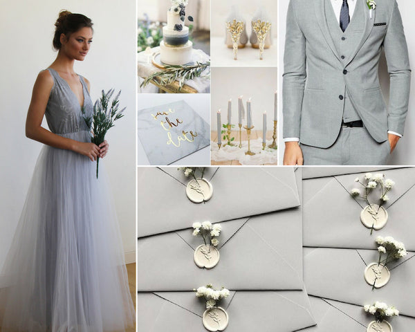 aa52308f312a The New  It  Color  Gray Wedding Inspirations – Blushfashion