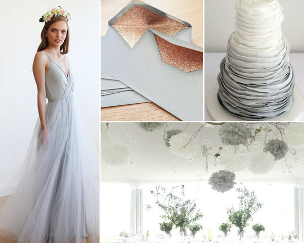 3bb33f6270eb Below are some beautiful ways we think you ll be inspired by the color gray  this wedding season.