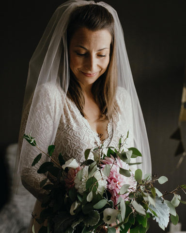 c79878d390e0 Just be sure the veil has matching lace to complete your rustic chic bridal  wear look