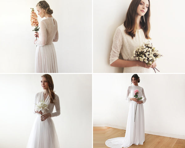 8ee6614d023e Being a modern bride doesn t mean you have to give up your modesty. Modern  brides can still be stunning when it comes to fashion that flatters.