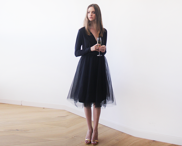 wrap black tutu dress
