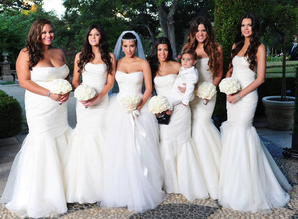 Kim Bridesmaids in white