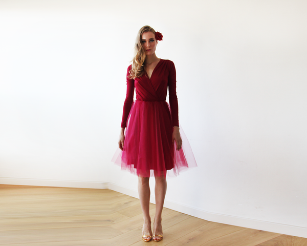 Wrap midi tulle dress - Party dress