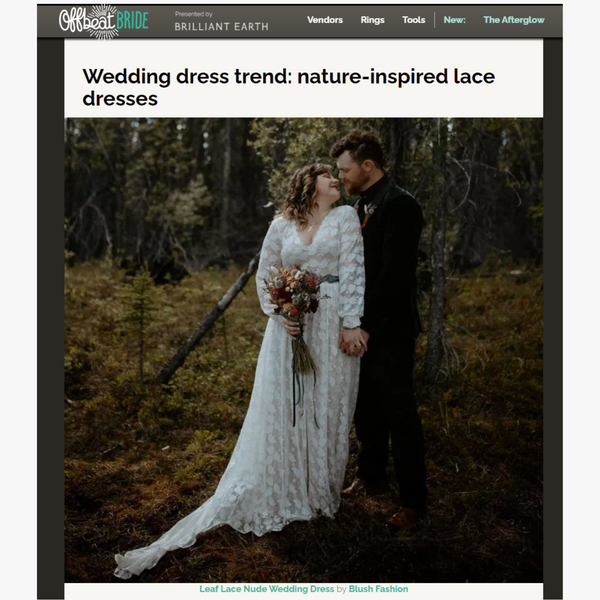 Wedding dress trend: nature-inspired lace dresses