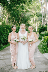 Blush pink bridesmaids wrap maxi dress 1033 - Blushfashion