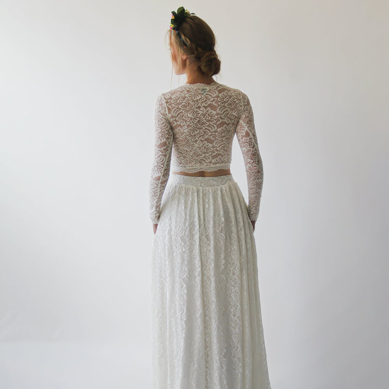 Long Sleeves Ivory Wedding Top #2057