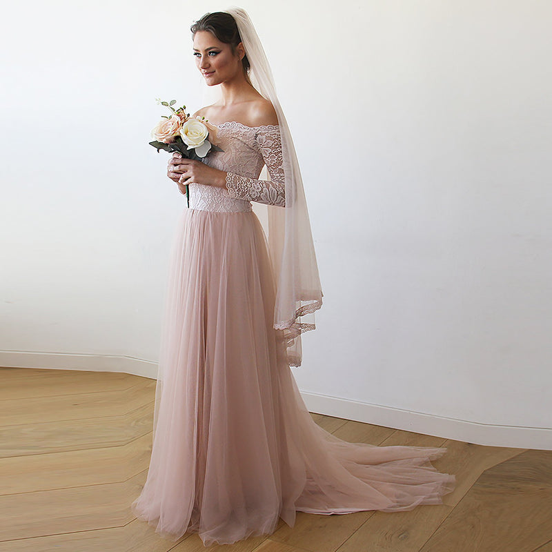 Curve & Plus size Blush Wedding Dress  #1162