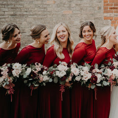 Deep Red Open Back Maxi Dress, Backless Bridesmaids Dress With A Slit,SALE 1100