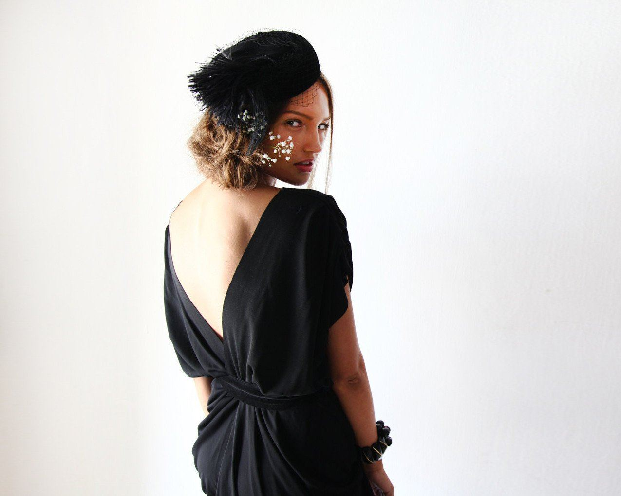 Black formal maxi dress SALE 1008 - Blushfashion