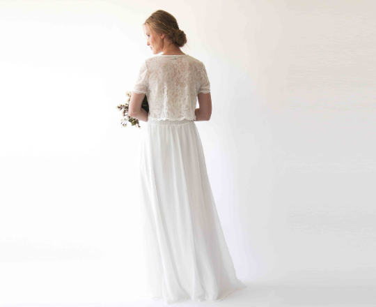 Romantic style Bridal chiffon skirt #3033
