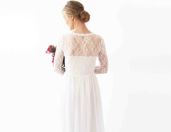 Long sleeve wedding dress, Wrap Long sleeves  1261