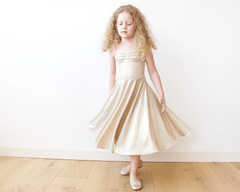 Gold Ballerina Flower Girl Dress  5002