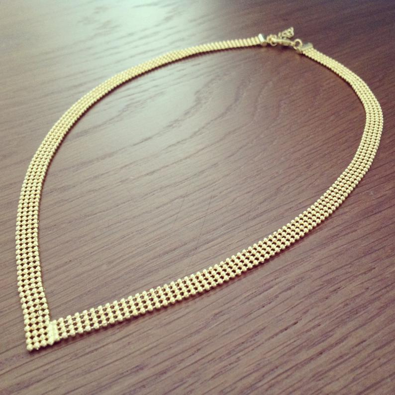 Gold Necklace, Dainty Gold Necklace, Minimalist jewelry, Bridesmaid Jewelry