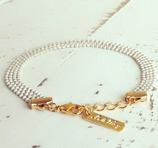 Delicate Bracelet, White Bracelet, Wedding Jewelry, Layered Bracelet, Dainty Bracelet, bridesmaid gift, Wedding Bracelet, Bridesmaid Gift