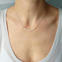 Pearl Bar Necklace, Wedding Necklace, Bridal Jewelry Collection, 4045