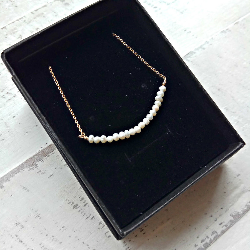 Pearl Bar Necklace #4045
