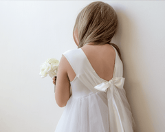 Ivory Flower Girl Tulle Dress 5006