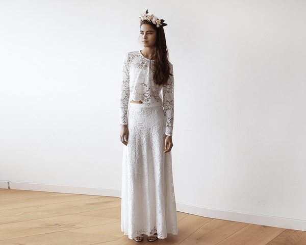 Maxi Bridal Ivory Lace skirt