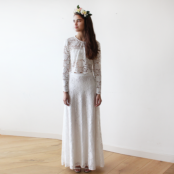 Bridal  Lace Maxi Skirt #3021