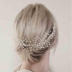 Handmade Leaves Headdress Luxury Women Hair Jewelry Wedding Prom Hair Accessories Pearl Bridal Hair Combs For Bride Hairbands