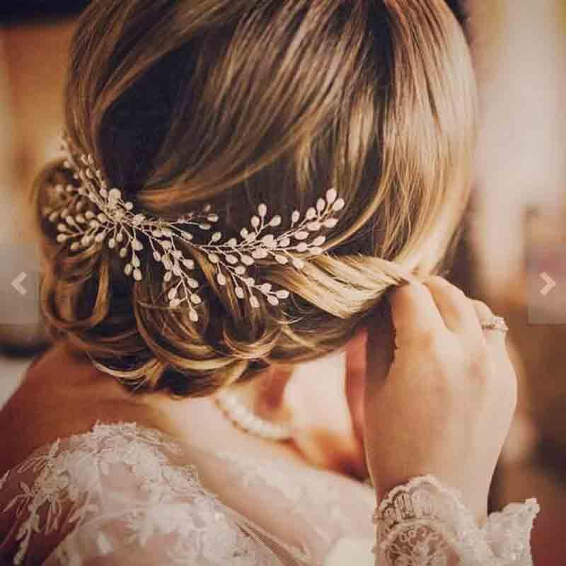 Handmade Leaves Headdress Luxury Women Hair Jewelry Wedding Prom Hair Accessories Pearl Bridal Hair Combs For Bride Hairbands - Blushfashion