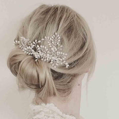 KMVEXO Simulated earl Bridal Wedding Hair Accessories Bridal Hair Combs Hairpin Wedding Hair Jewelry for Women Brides Tiaras