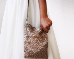 Pink Sequin Small Purse