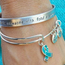 Bundle & Save! The Charlotte Cuff & The Peyton Bangle - Food Allergy Awareness