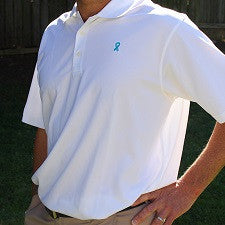 Adidas(R) Climalite Teal Ribbon Golf Polo - Food Allergy Awareness