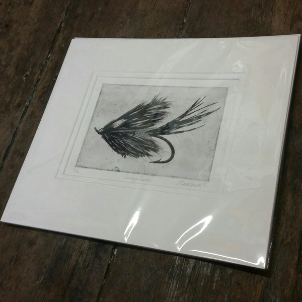 Etching of Salmon fly