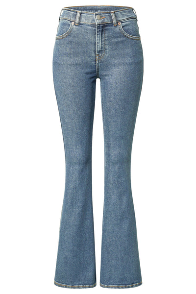 DAMES JEANS. DAMES BROEK, DR DENIM, EASTCOAST, MACY, BLUE, HOGE TAILLE, FLARED
