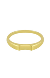 Gold ring, silver ring, small ring, RUE RIND, FLAWED