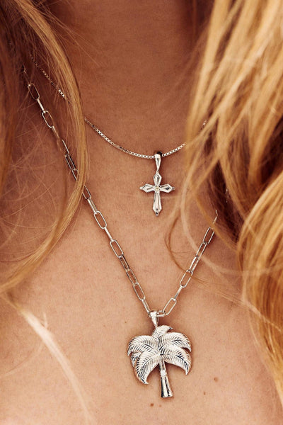 MADONNA CROSS NECKLACE CHARM