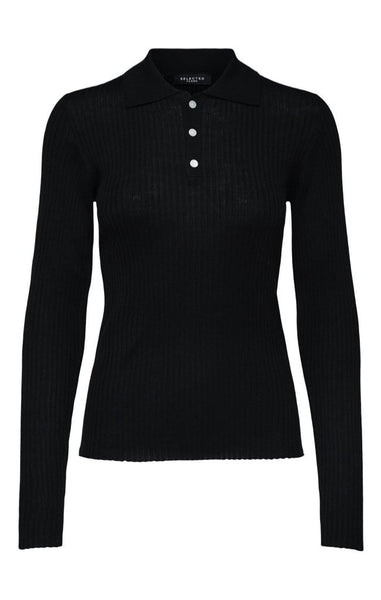 COSTA LS KNIT POLO NECK