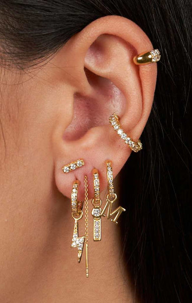 MIX & MATCH SINGLE ZIRCONIA HOOP EARRING